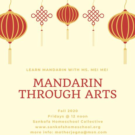 Mandarin through Arts