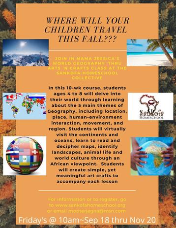 World Geography ~ Arts & Crafts
