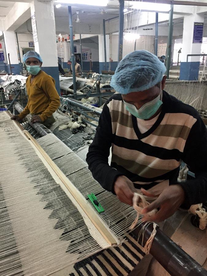 Raj Factory Artisans weaving