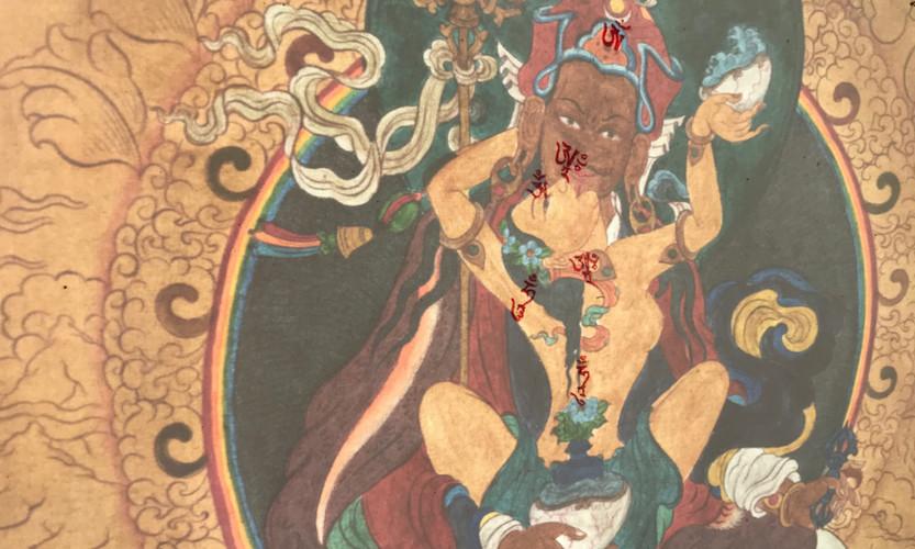 Guru Rimpoche com consorte Tiffani Gyatso