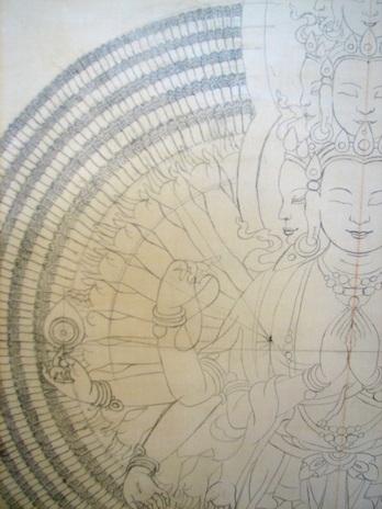 Sketch de Chenrezig