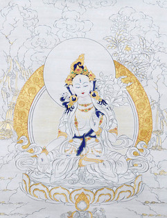 pintura budista curso tara