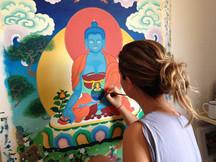 pintura budista curso