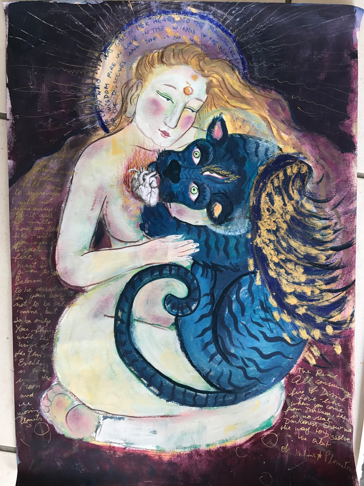 The Lady who has given her heart to the Magical Creature of secret wisdom