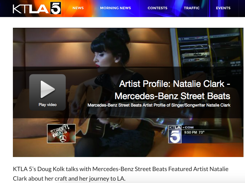 KTLA5 NEWS/MERCEDES BENZ STREET BEATS CAMP