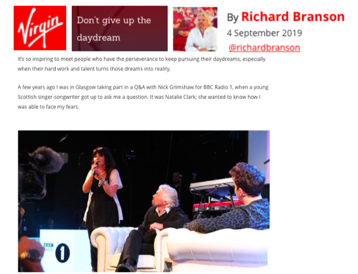 VIRGIN ARTICLE - RICHARD BRANSON