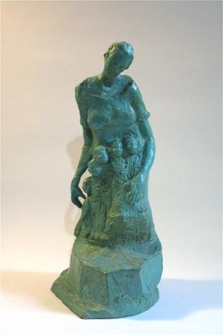 Mother's Arms by Colleen O'Donnell.  Bronze.