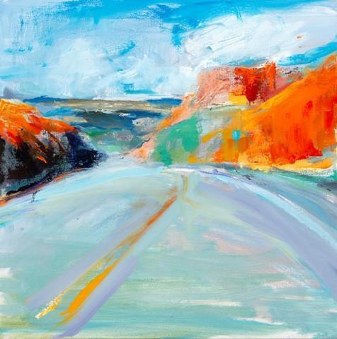 Sunlight on Route 40 by Fran Lightman Gibsom