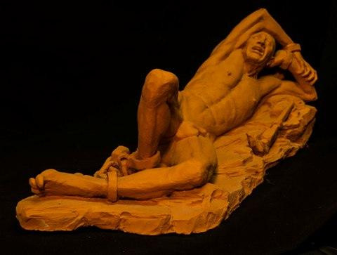 Prometheus by Suzanne Griffith.  Terra cotta.