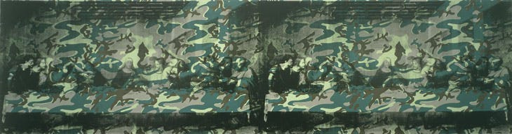 "Camouflaged Last Supper by Andy Warhol.  Two ""Last Supper"" prints of Leonardo da Vinci's masterpiece covered in camouflage"