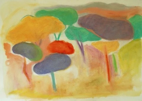 Pines in the Villa Ada by Pia DeGirolamo