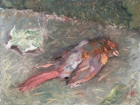 The late Cardinal by Jeff Thomson
