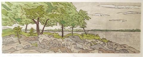 Dan Miller.  Sally Island Through Trees.