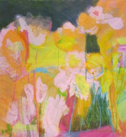 """Judy Caldwell. """"Sunny Days"""".  Acrylic on canvas."""