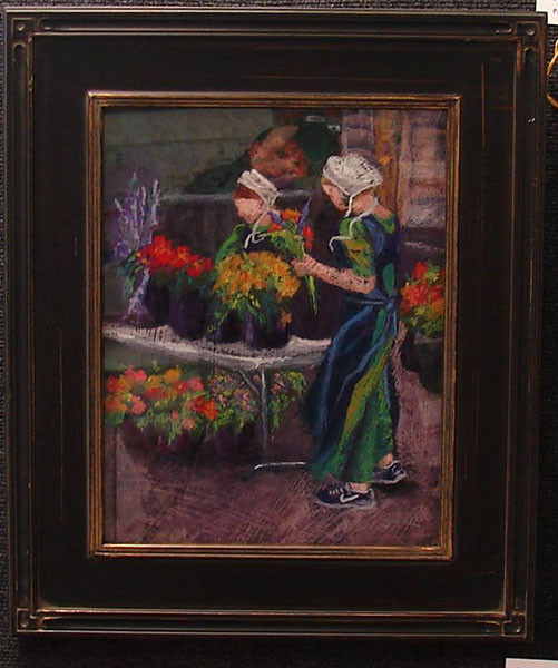 Flower Girls by Janet Gabriel, pastel, Honorable Mention.