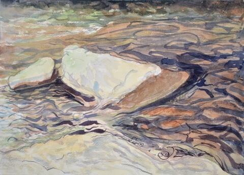 """Sarah Roche.  The Spot.  Watercolor.  10"""" x 14 """"."""