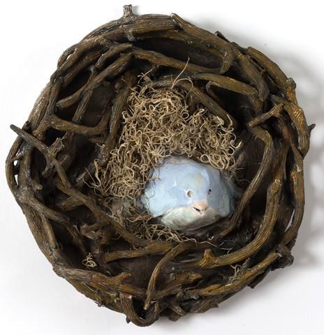 Bird in Nest by Andrea lyons