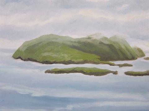 """Kellyann Monaghan.  Blasket Island.  12"""" x 16""""."""