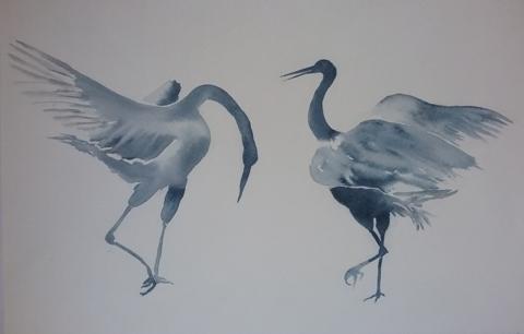 "Jayne Ollin.  ""Courting Cranes""."