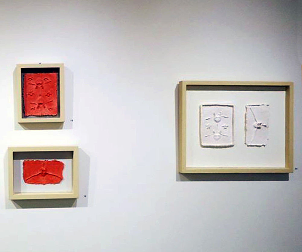 Installation view. Anne Marble, cast paper
