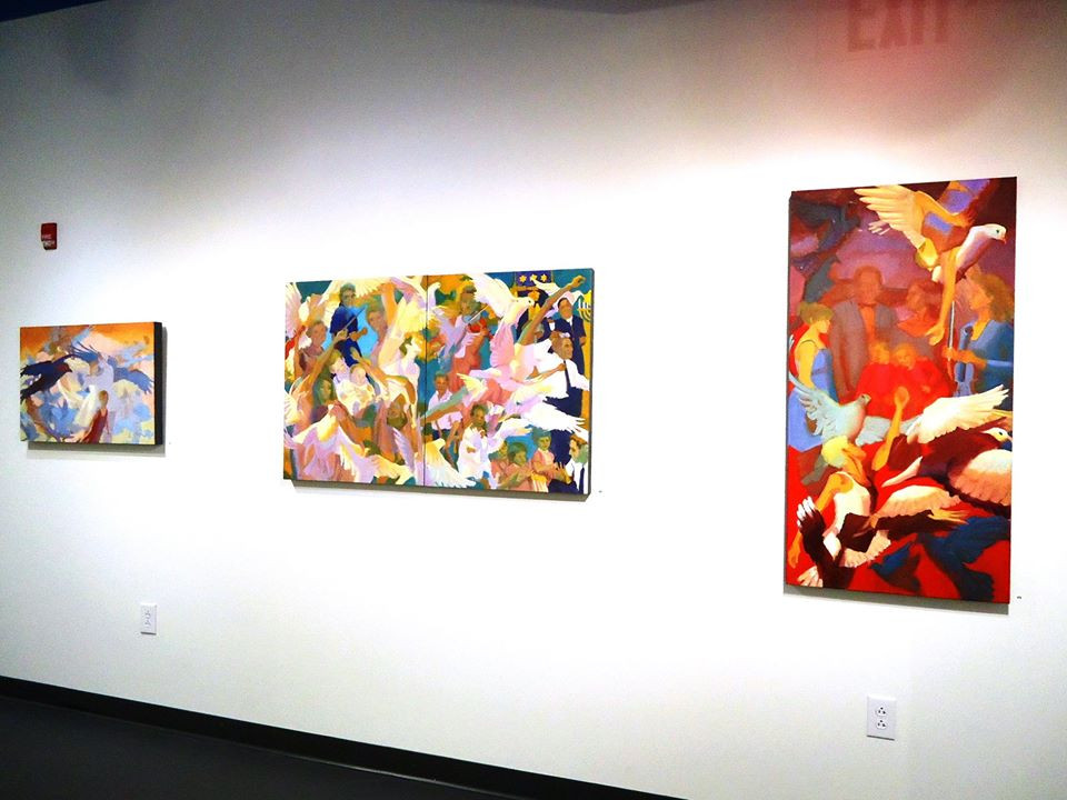 Installation view. Mindy Flexer, painting