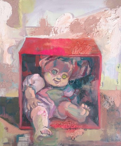 """Special Box"" by Jeanne O'Shell.  Oil on canvas, 30"" x 24"""