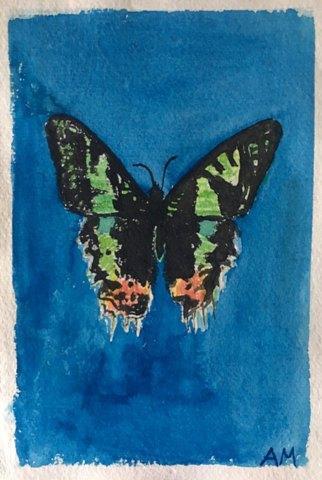 "Amanda Mosely, ""S"", watercolor, 8"" x 6"""