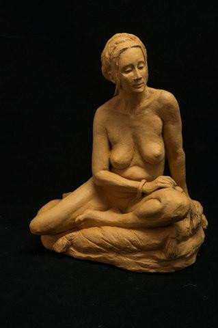Odalisque by Suzanne Griffith.  Terra cotta.