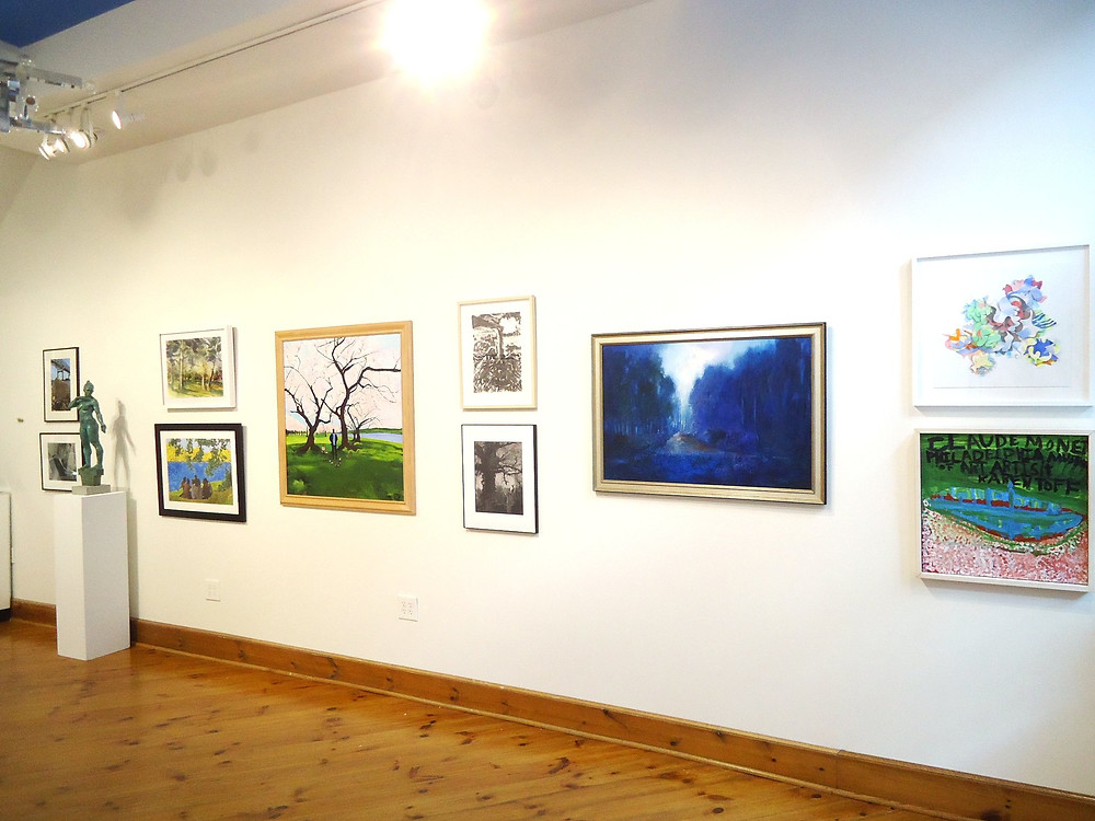 Right-side wall from front of Cerulean Arts' 7th Annual Juried Exhibition