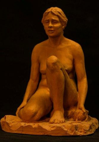 Ariandre Abandoned by Suzanne Griffith.  Terra cotta.