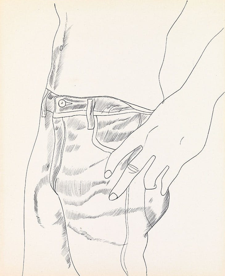 Untitled (Hand in Pocket) by Andy Warhol from A to B and Back Again.