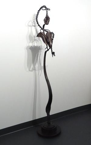 """Rob Sigafoos, """"'94 Dodge Re-envisioned"""", forged steel from a 1994 Dodge truck, 72"""" x 13"""" x 13"""""""