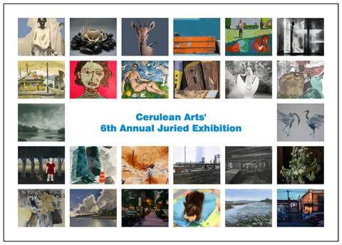 Post card for Juried Exhibition.  Patricia Traub, juror.
