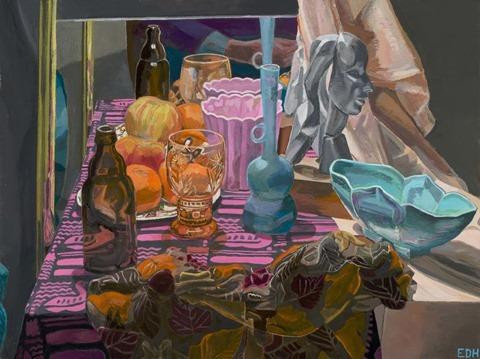Still Life with Autumn Scarf by Elizabeth Heller