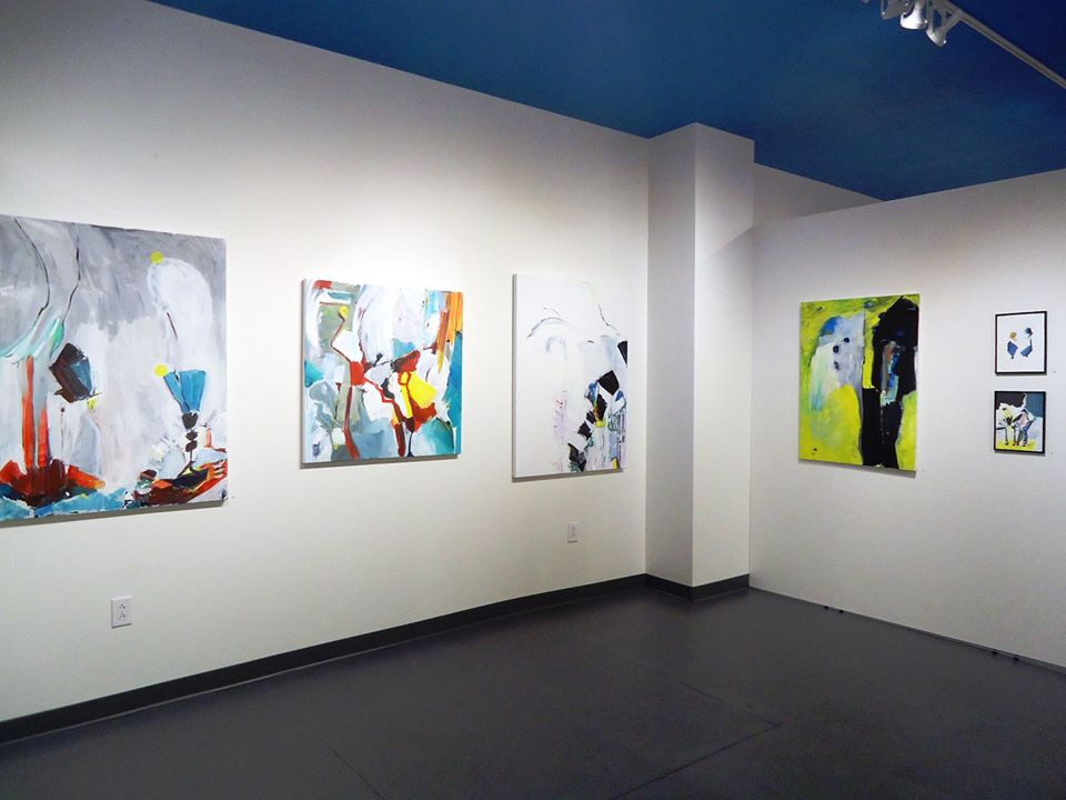 Installation view.  Alice Lesnick, painting