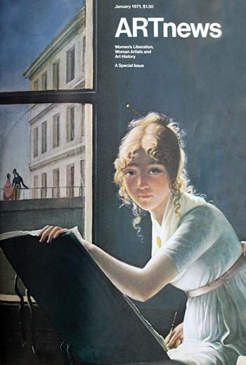Cover to Jan., 1971 ARTnews on women's art.