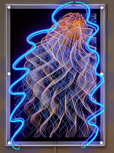 "Peter Treiber.  ""Ethereal Luminescence 18407"".  Neon."
