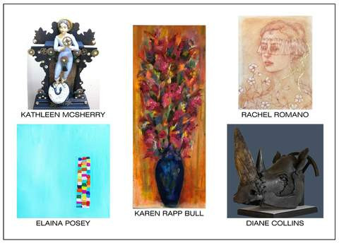 Cerulean Arts Collective Card for January 16th - February 10th exhibitions.
