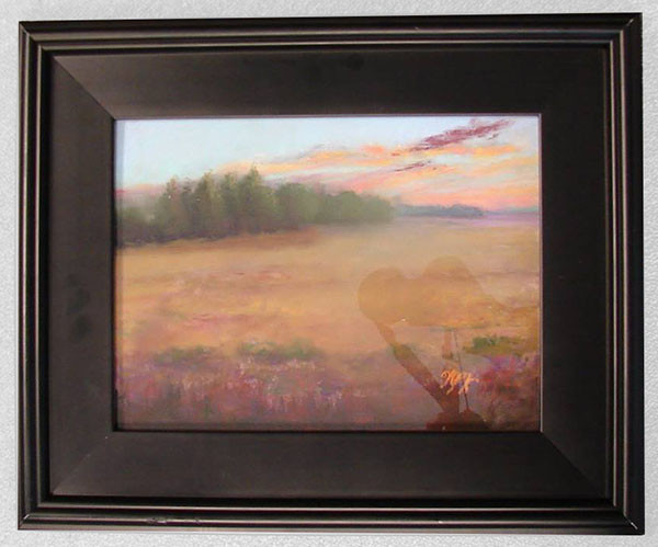 Day Wanes Over the Meadow by Winnie Witmer, pastel, First Place winner.