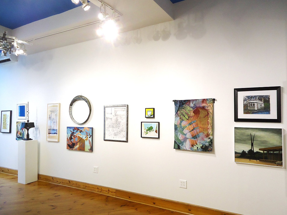 Side wall of Cerulean Arts' 7th Annual Juried Exhibition