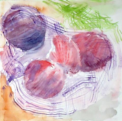 Red Onions by Amanda Moseley