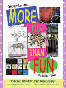 """Cover for catalog for """"More Fun Than Fun"""""""