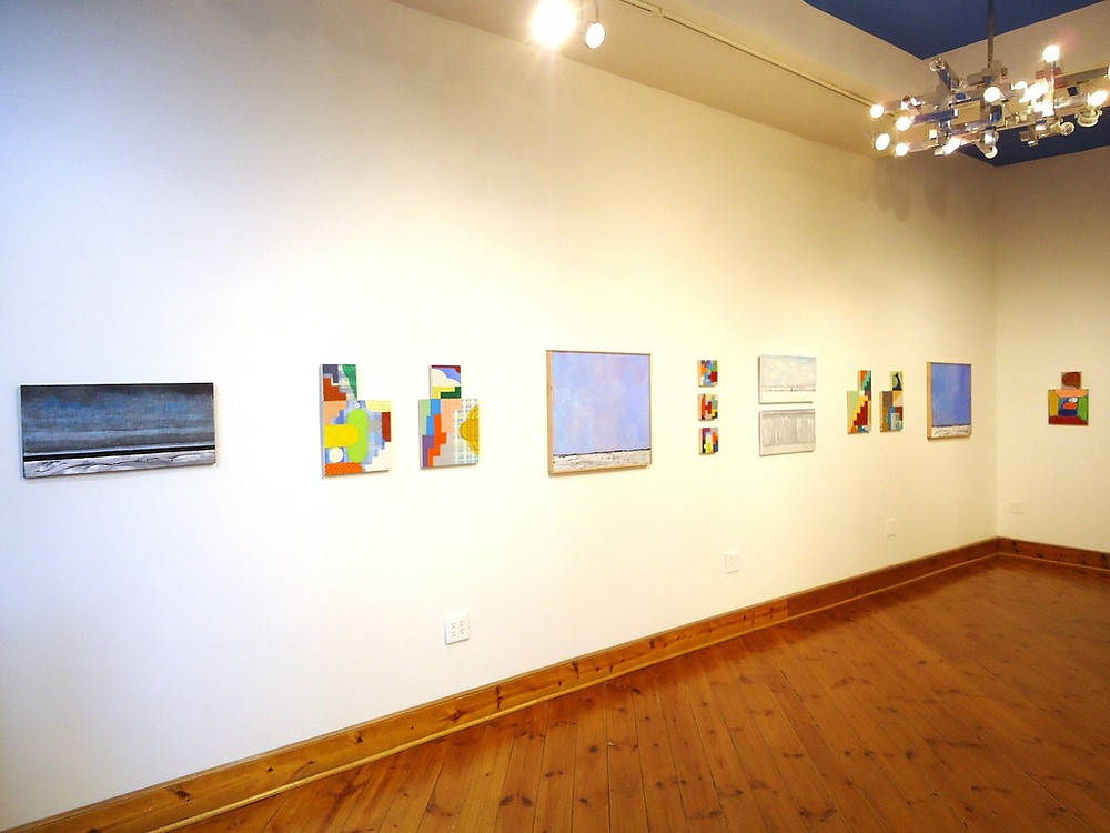 """Exhibition shot of """"Beyond Time and Place"""" at Cerulean Gallery"""