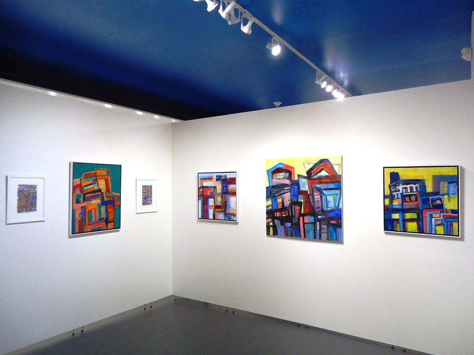Installation view.  Alan Lankin, painting and mixed media