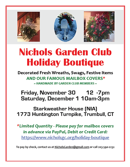 Holiday Boutique 2018 Flyer Screen Shot.