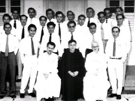 Fr. Pierre Bouttaz 1957 to 1965. Fr. C. Huc 1955 to 1965. Can you spot the late Ee Peng Liang
