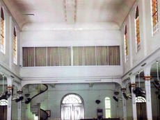 In the first renovation the choir loft was turned into a meeting room