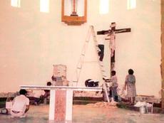 Resting the crucifix
