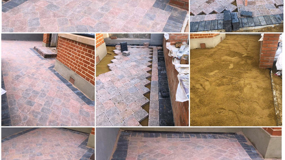 Country cobbles paving