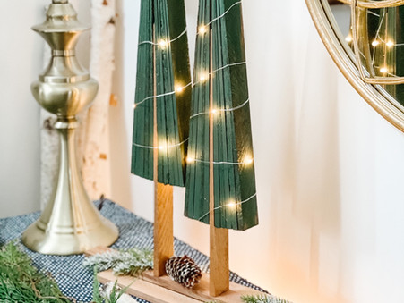 Christmas Tree DIY Using Rustic Cedar Shims